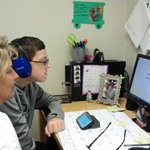 special needs student learning computer skills